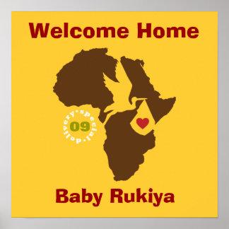 Poster casero agradable de la adopción - Etiopía