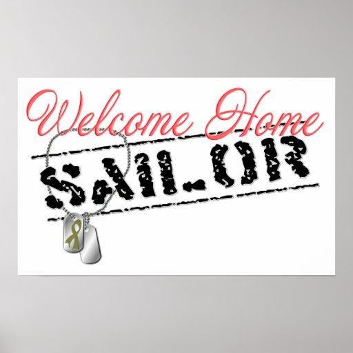 Poster casero agradable del marinero
