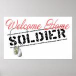 Poster casero agradable del soldado