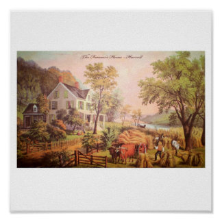 Poster casero de la cosecha del granjero
