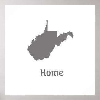 Poster casero de Virginia Occidental Póster
