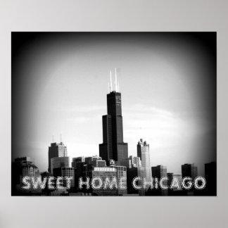 Poster casero dulce de Chicago