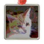 poster cat metal ornament