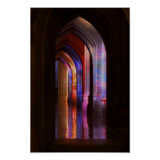 Poster - Cathedral Stained Glass Illumination