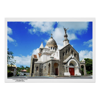 Poster Cathédrale Sacré Coeur Martinique