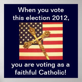 Poster católico del votante