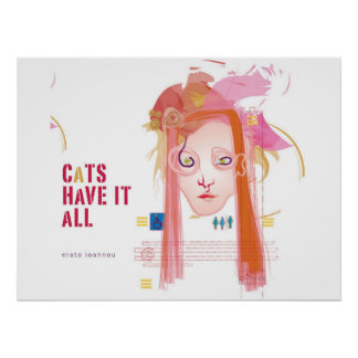 poster cats have it all digital magazine cover art