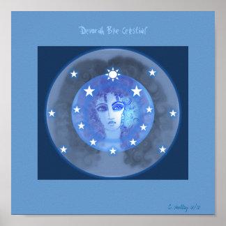 """Poster celestial azul de """"Devorah"""""""