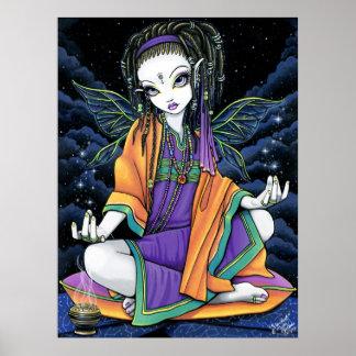 Poster celestial de la hada del Hippie de Stardust