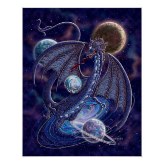 Poster celestial del dragón