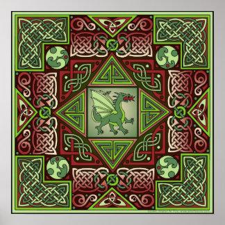 Poster céltico de la bella arte del laberinto del