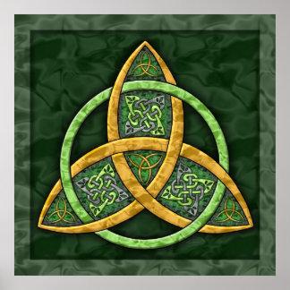 Poster céltico de la bella arte del nudo de la tri