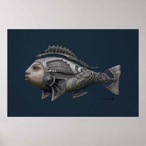 Poster céltico de los pescados