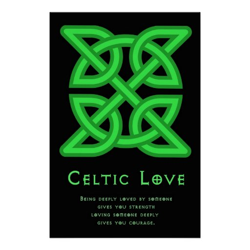 Poster céltico del amor 36 x 24
