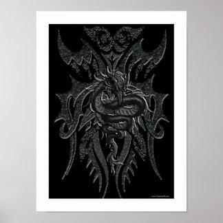 Poster céltico del dragón