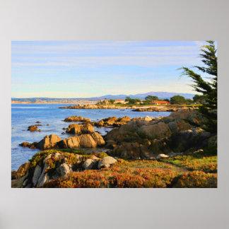 Poster central de la costa de California Póster