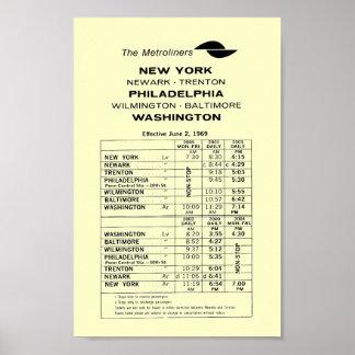 Poster central del calendario de Metroliner del fe