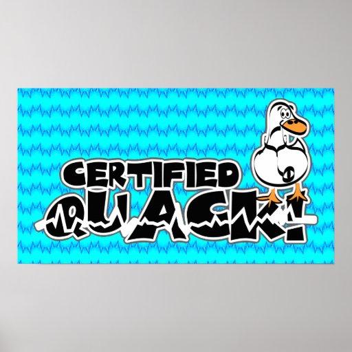 Poster certificado del curandero