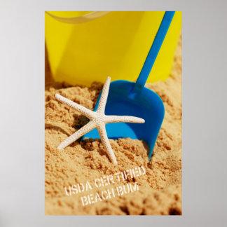 Poster certificado USDA del vago de la playa