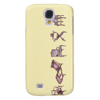 Poster chairs ivory cream samsung galaxy s4 cover