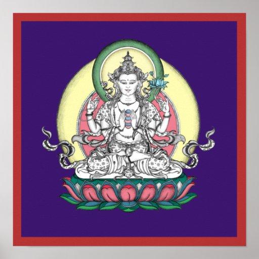 POSTER Chenrezig/Avalokiteshvara - a partir del $1