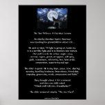 Poster CHEROKEE del arte del lobo de la HISTORIA d