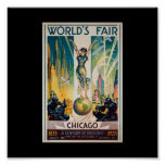Poster-Chicago World's Fair-Century of Progress 3 Poster