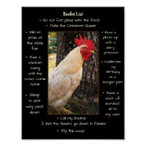 Poster-Chicken Bucket List Poster