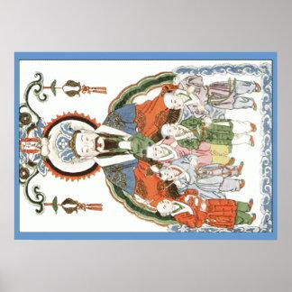 Poster chino de dios de la cocina de Zao junio