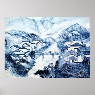 Poster chino de la porcelana