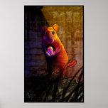 Poster chino de la rata del zodiaco