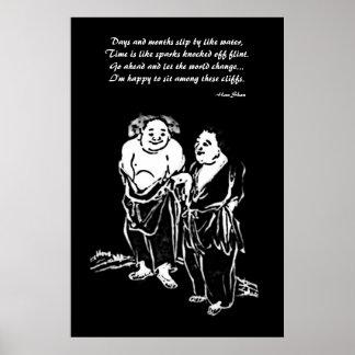 Poster chino de los poetas