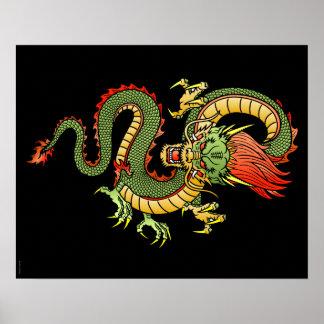 Poster chino del dragón 09