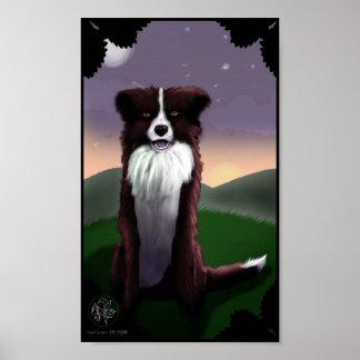 Poster chino del perro del zodiaco