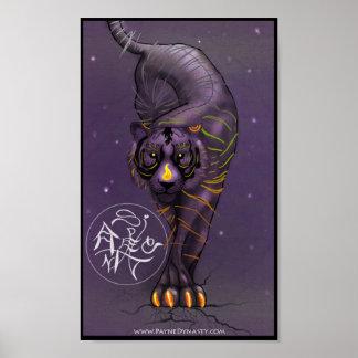 Poster chino del tigre del zodiaco