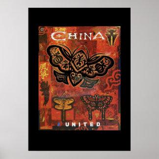 Poster chino del viaje de las mariposas