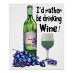 Poster chistoso del arte del vino