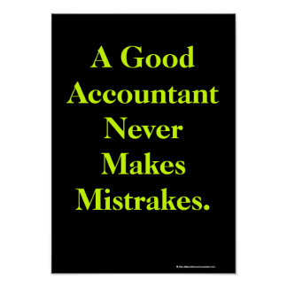 Poster chistoso del contable