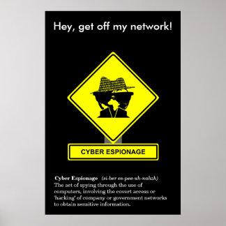 Poster cibernético de la conciencia de la
