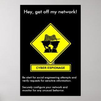 Poster cibernético de la conciencia de la segurida