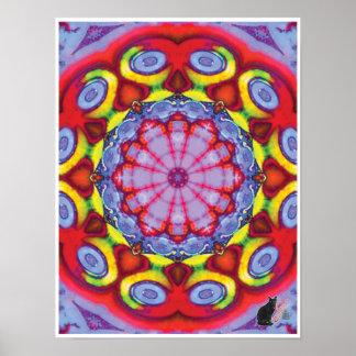 Poster cinético del caleidoscopio del collage de