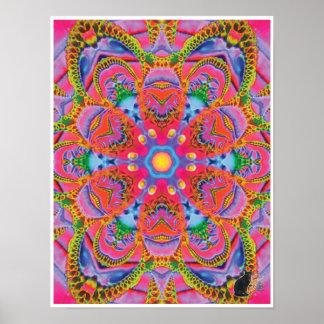 Poster cinético del caleidoscopio del collage del