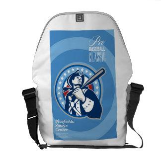 Poster clásico béisbol americano del patriota del  bolsa de mensajeria