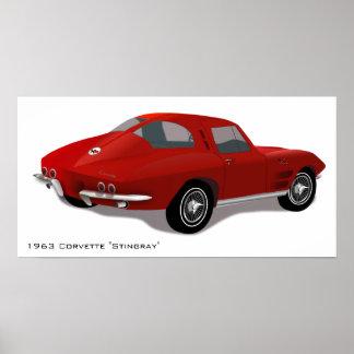 Poster clásico de la pastinaca del Corvette Póster