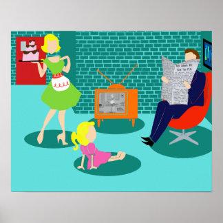 poster clásico de la televisión de los años 50