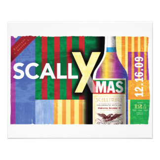 """Poster clásico de ScallyMas Folleto 4.5"""" X 5.6"""""""