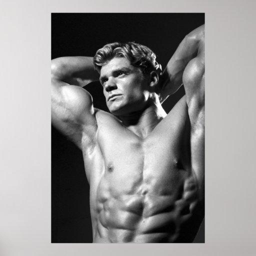 Poster clásico del Bodybuilder