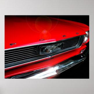 Poster clásico del coche del músculo 60s