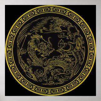 Poster clásico del dragón