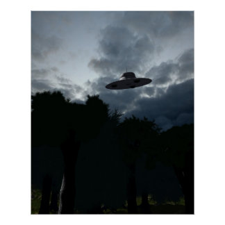 Poster clásico del platillo volante